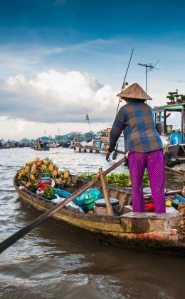 Balade en bateau au coeur du marché flottant de Cai Rang