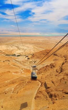 Ascension en téléphérique du mont Massada