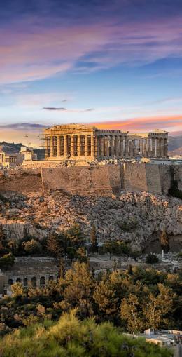 Athènes, l'Acropole et le Parthénon