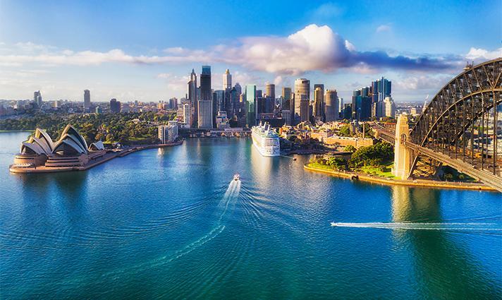 Vue aérienne Australie