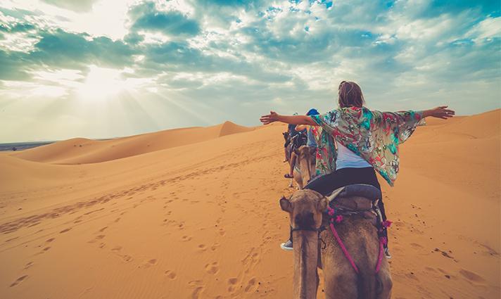 Promenade désert Maroc